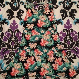 PINK tropical print dress